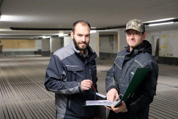 Konstruktive Zusammenarbeit: David Dietz und Artur Brening (v. l.).