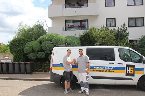 Die beiden Bauleiter des Projektes André Fischer und Yasin Yildiz arbeiteten Hand in Hand.