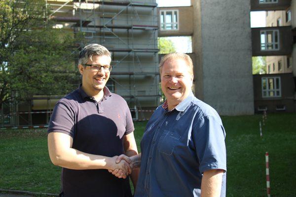 Die Kooperation läuft reibungslos, da sind sich Marko Ivankovic und Roland Matthes einig (v. l.).